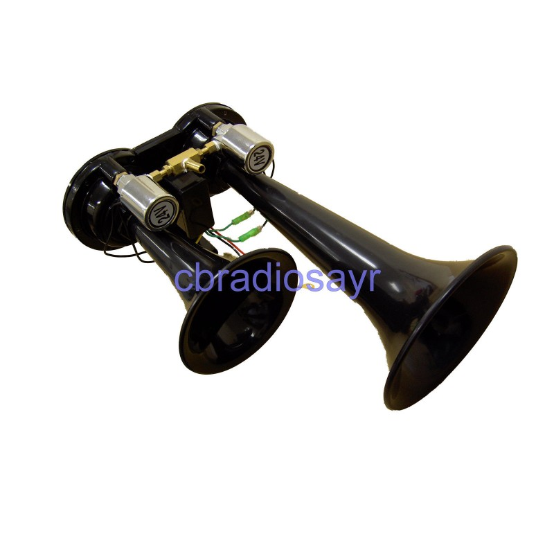 24v truck air horns diesel train tgv airhorn twin trumpet black publicscrutiny Choice Image