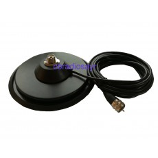 """New Style 7"""" PL Mag Mount with Anti Scratch Rubber Boot - For CB Radio Antenna Aerial"""