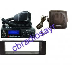 TTI TCB 771 Multi Channel CB Radio, DIN Bracket Facing Plate & Small CB Speaker