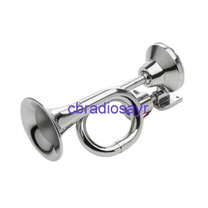 12v Only Chrome Trumpet Air Horns