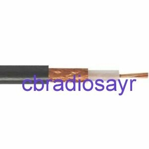 RG Mini 8 Low Loss 50 Ohm Coaxial Cable for CB Amateur Radios (Cable Only)