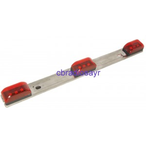 All Ride 24V 9 LED Red Metal Light Bar