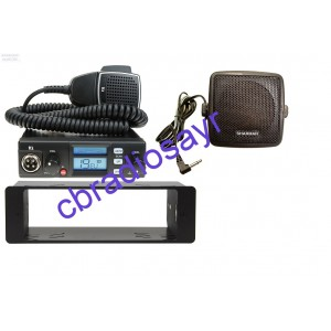 TTI TCB 565 Multi Channel CB Radio, DIN Bracket Facing Plate & Small CB Speaker