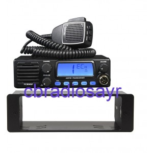 TTI TCB 900 CB Radio AM/FM 12/24V with Front Speaker & DIN Bracket Facing Plate
