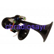 CBR 12V Diesel Train Air Horns Twin Trumpet Black