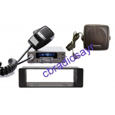 Midland Alan M10 Multimedia 12 Volt CB Radio, DIN Bracket Facing Plate & Small CB Speaker