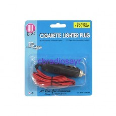 All ride 12/24 Volt Cigarette Lighter Plug with 1m Cord 8AMP