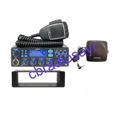 TTI TCB 881N Multi Channel CB Radio, DIN Bracket Facing Plate & Small CB Speaker