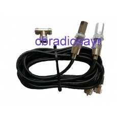 Twin Antenna Cable Kit Suitable for CB Radio Antennas - With 3/8 Mounts