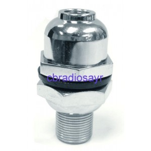 Chrome Heavy Duty Dome Mount - Suitable for 3/8 CB Radio Antenna Aerial