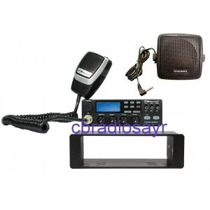 Midland Alan 48 Pro Multi 12/24 Volt CB Radio, DIN Bracket Facing Plate & Small CB Speaker