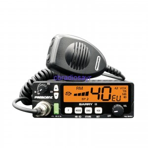 President Barry II AM/FM Dual Voltage CB Radio with VOX & USB Port