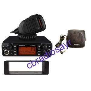 Thunderpole T-2000 AM/FM CB Radio - Suitable for 12 or 24 Volt, DIN Bracket Facing Plate & Small CB Speaker